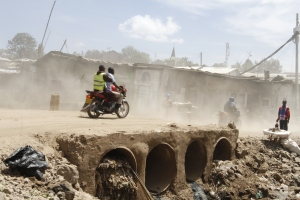 A view of Kibera slum in Kenya's capital Nairobi which is one of the biggest slums in Africa